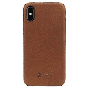 Nodus Shell II iPhone X Case and Micro Dock III - Chestnut Brown