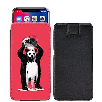 تصميم مخصص الباندا سحب المطبوعة الحقيبة علامة التبويب الهاتف حالة الغطاء سوني إريكسون XZ [S]--Panda09_web