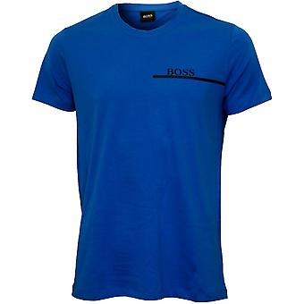 Hugo Boss Luxe Baumwolle 24 Crew-Neck T-Shirt, Electric Blue