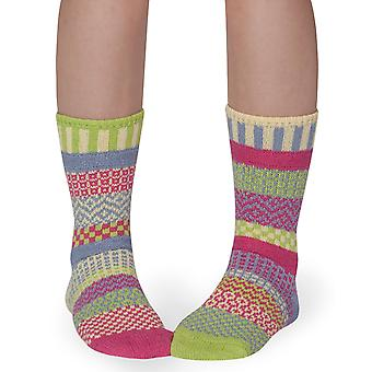 Aster recycled cotton multicolour odd-socks   Crafted by Solmate