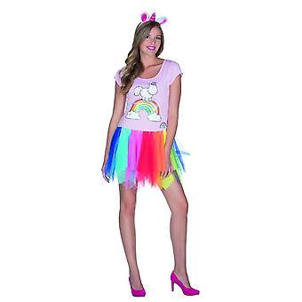 Señoras Theodor vestido clásico arco iris Tutu unicornio carnaval unicornio arco iris