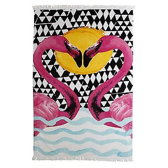 Toalla de playa de Flamingo impresión