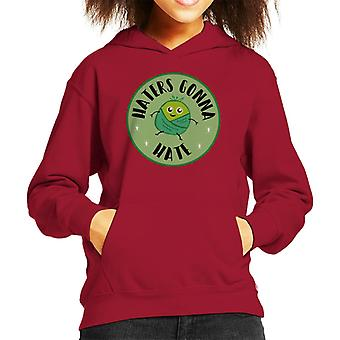 Christmas Brussel Sprouts Haters Gonna Hate Kid's Hooded Sweatshirt