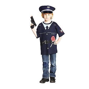 Polizia camicia costume, costume di polizia t-shirt bambini