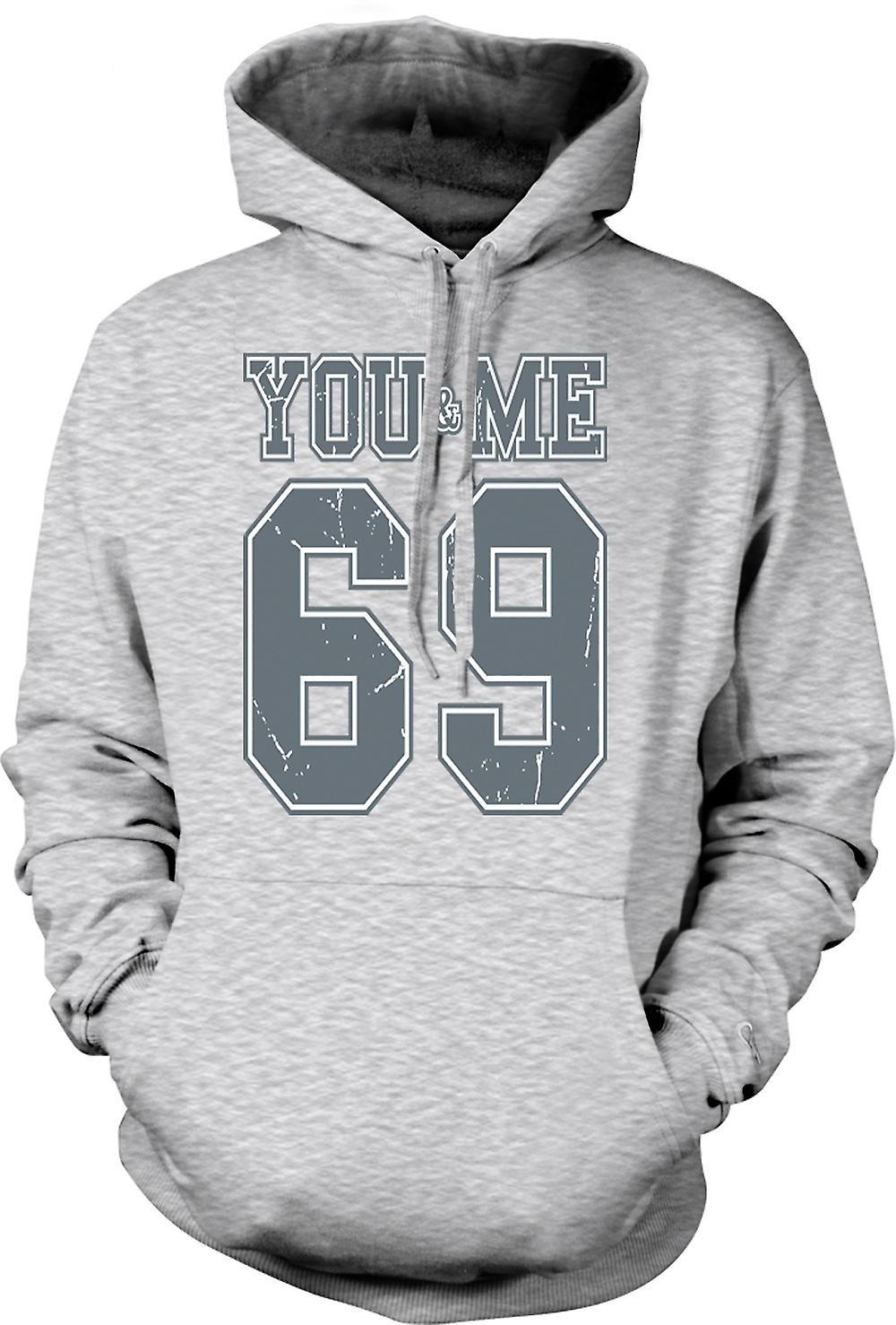 Mens Hoodie - You And Me 69 - College Football - Funny