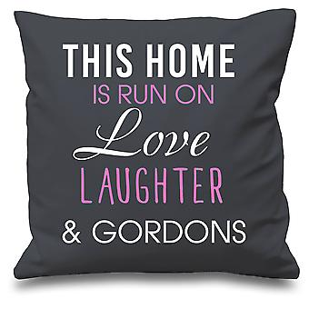Grey Cushion Cover This Home Is Run By Love Laughter And Gordons 16