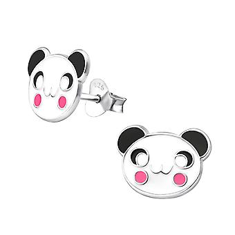 Panda - 925 Sterling Silver Colourful Ear Studs - W12444X