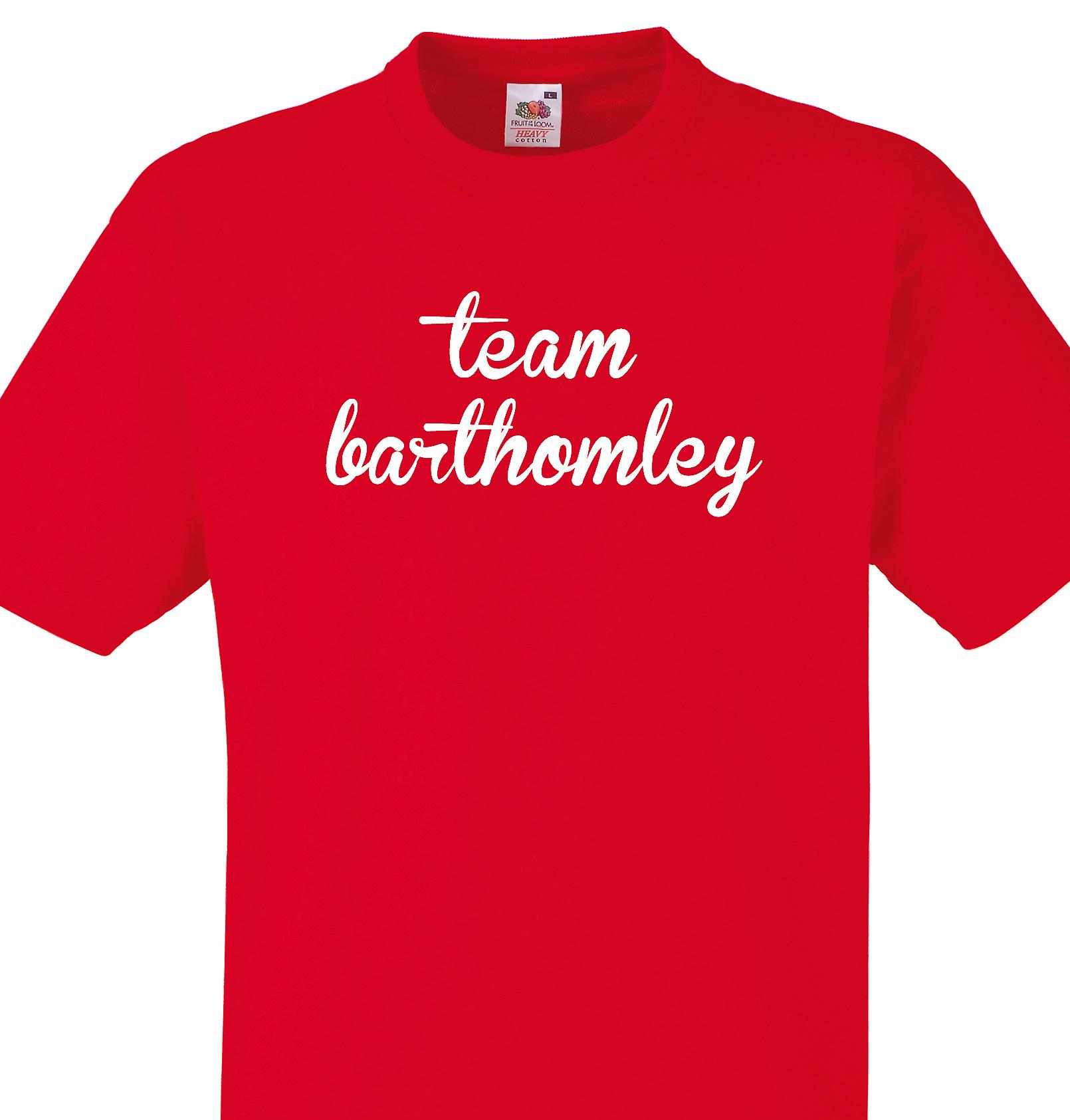 Team Barthomley Red T shirt