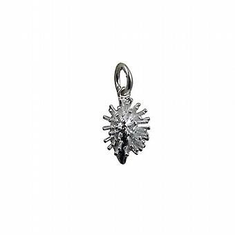 Silver 15x10mm Hedgehog Pendant or Charm