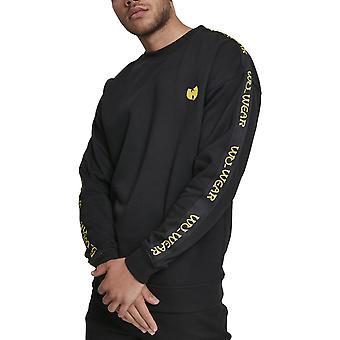 Wu-wear hip hop sweater - embroidery crewneck black