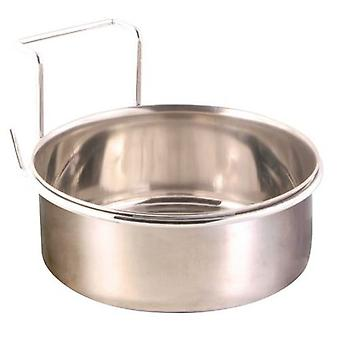Trixie Eat / drink Steel, With Hook, 0.3 L, Ø 9.5 Cm