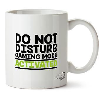 Hippowarehouse Do Not Disturb Gaming Mode Activated Printed Mug Cup Ceramic 10oz