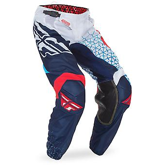 Fly Racing rot-weiss-blaue 2017 Kinetic Mesh Trifecta Kinder MX Hose
