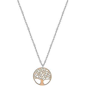 Bella Filigree Tree of Life Pendant - Rose Gold/Silver