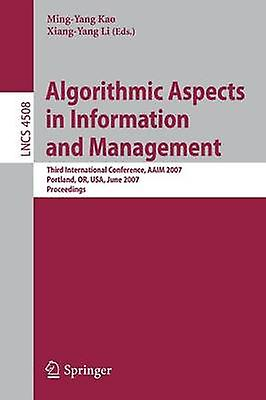 Algorithmic Aspects in Information and Management by Kao & MingYang