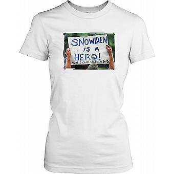 Snowden ist ein Held - World can't Wait für Wahrheit Damen T Shirt