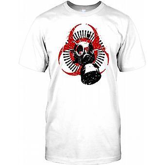War - Chemical Warfare Gas Mask - Bioweapon Mens T Shirt
