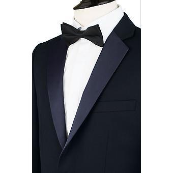 Dobell Mens giacca blu Navy Regular Fit risvolto tacca