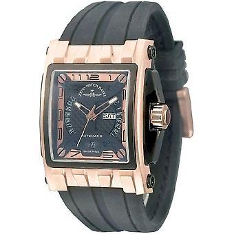 Zeno-watch mens watch mistery rectangular automatic 4239-RBG-i6