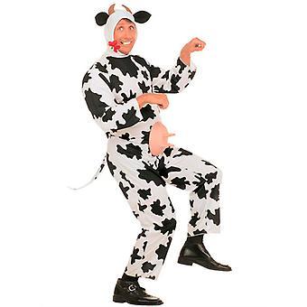 Funny ko kostume (buksedragt medaljon horn)