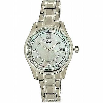 Roterende dames datum Mother Of Pearl Dial alle Stainless Steel Watch LB72835/07