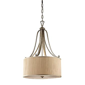 Abbey Silver Sand 3 Light Ceiling FE/ABBEY/Pendant With Shade - Elstead Lighting Fe / Abbey / FE/ABBEY/P
