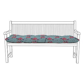 Gardenista® Water Resistant Ditsy Print Tufted 3 Seater Bench Kissen