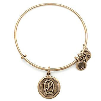 Alex en Ani initiële Q Gold Bangle A13EB14QG