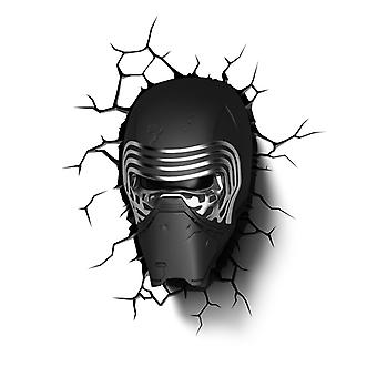 Star Wars Kylo Ren 3D LED Wall Light