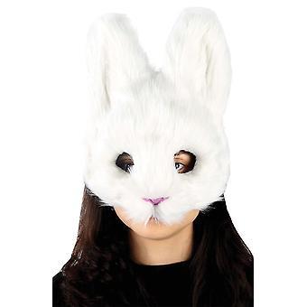 Máscara de conejo blanco