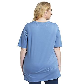 Rosch 1194535-11998 Damen Kurve Rauchblau Pyjama Top