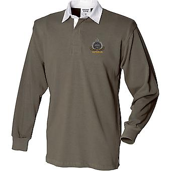 Suffolk Regiment Veteran - Licensed British Army Embroidered Long Sleeve Rugby Shirt