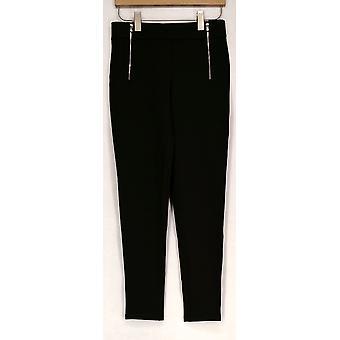 Kate & Mallory High Density Knit Leggings w/ Zip & Pockets Green A426783