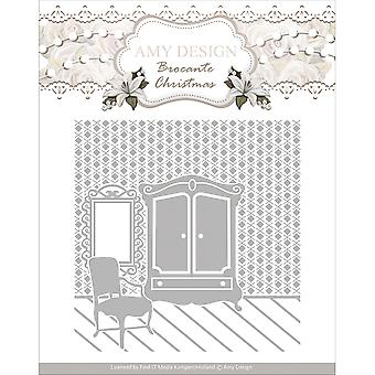 Find It Trading Amy Design Embossing Folder-Brocante Christmas ADEMB003