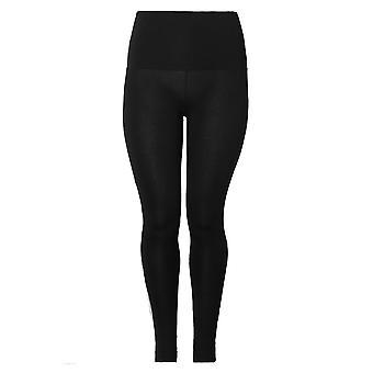 Black TUMMY CONTROL Full Length Leggings