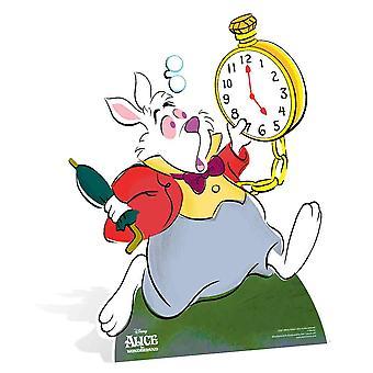Coniglio da Alice nel paese delle meraviglie Disney cartone Lifesize ritaglio bianco / Standee / Stand Up