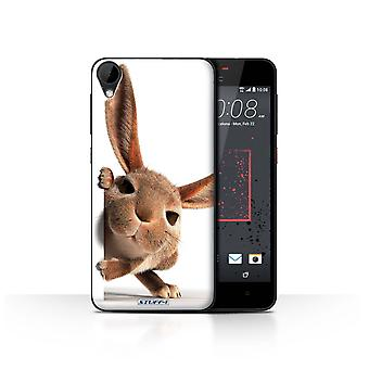 STUFF4 Case/Cover for HTC Desire 825/Peeking Bunny/Funny Animals