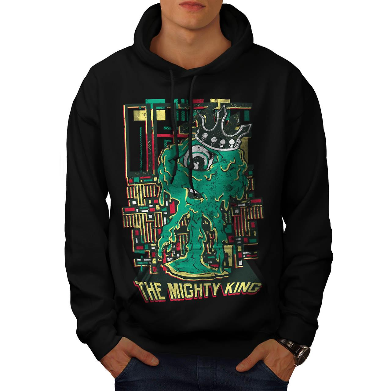 Mighty King Monster Cyclops Life Men Black Hoodie | Wellcoda