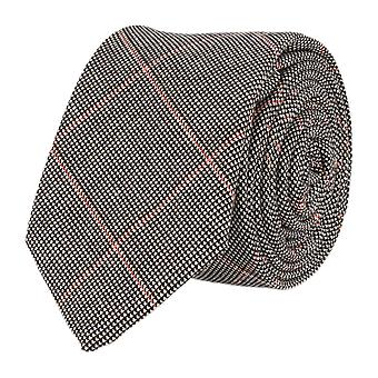 Andrews & co. narrow tie Club tie diamond pattern gray