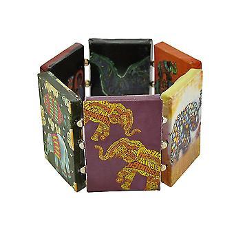 Papier Kunstwerk Elefant Stretch Armband