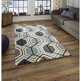 HK 7526 grijs blauwe rechthoek tapijten moderne tapijten
