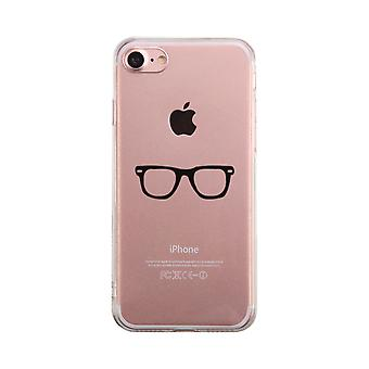 Nerdy Eyeglasses Transparent Phone Case Cute Clear Phonecase