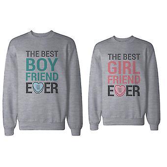Bästa pojkvän och flickvän par någonsin tröjor alla hjärtans dag present
