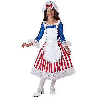 Betsy Ross American Flag Historic Patriotic Civil War Girls Costume
