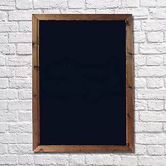 Wall Mounted A1 Chalkboard with Dark Oak Frame