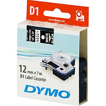 DYMO D1 tapes standard 12 mm, white on black, 7 m roll (45021)