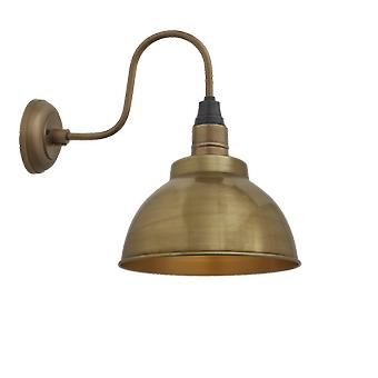 Brooklyn Vintage Swan Neck Wall Sconce - Dome - Brass - 13