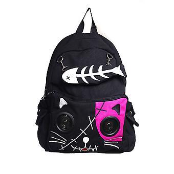 Prohibido gato mochila con altavoces incorporados
