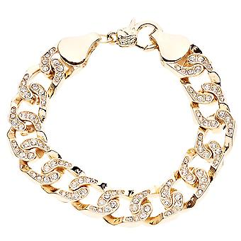 Iced Out Bling MICRO PAVE Armband - CHAIN STYLE gold