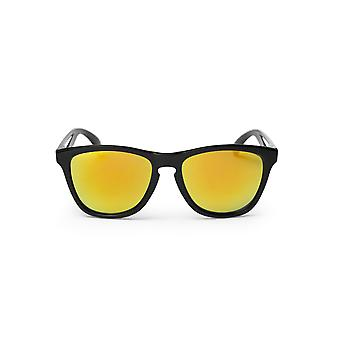 Cheapo Bodhi Sunglasses - Black / Yellow Mirror